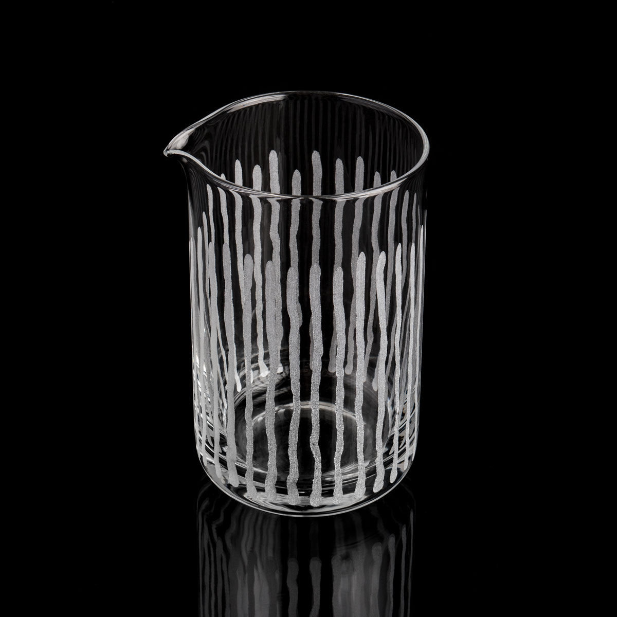 M-TAKA 550ml vertical striped mixing glass